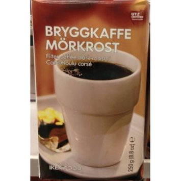 1 X 8.8oz IKEA Filter Ground Coffee Dark Roast (Bryggkaffe Morkrost)