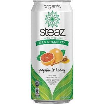 Steaz Oragnic Green Tea Grapefruit Honey 16 Oz - Case of 12