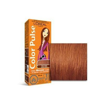 Color Pulse By Loreal, Concentrated Non-permanent Hair Color Mousse, Punchy Brown, 4 Ea