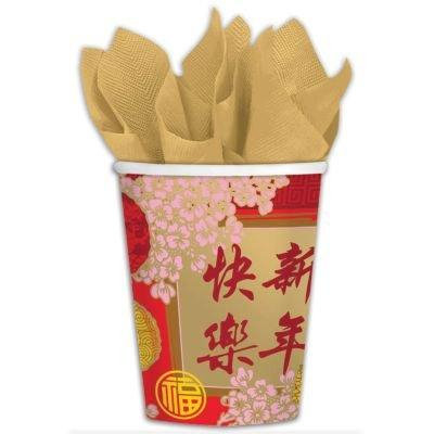 Chinese New Year Cups-9oz, 8 Pack
