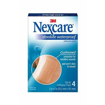 Nexcare Absolute Waterproof Adhesive Gauze Pad, 3 Inches X 4 Inches Pack of 5
