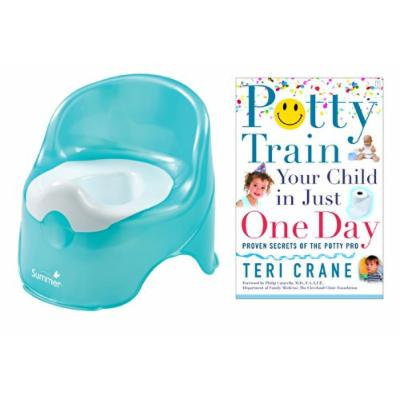 Summer Infant Lil' Loo Potty with Potty Train Your Child in Just One Day Guide Book, Teal