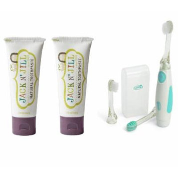 Jack N' Jill Natural Toothpaste 1.76oz 2-Pack with Vibrating Toothbrush (Blackcurrant)
