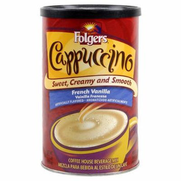 Folgers Cappuccino French Vanilla Beverage mix 16 oz
