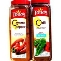 Tone's Ground Cayenne Pepper, 16oz Shaker &Tone's Chili Powder 20 Oz. Shaker