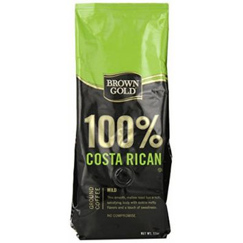 Brown Gold 100% Costa Rica Coffee, 12-ounce bag