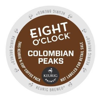 Eight O'Clock Keurig K-Cup Coffee - Columbian Peaks (1 Box of 12 K-Cups)
