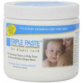 Triple Paste Medicated Ointment for Diaper Rash, 6 Ounce