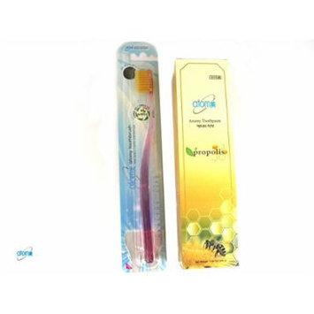 Atomy Propolis Anti- Plaque Whitening Dental Oral Care 200g + 1 Toothbrush Set
