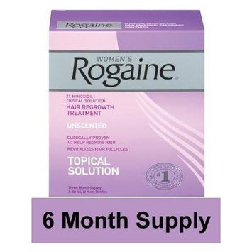 Rogaine for Women - Unscented Hair Regrowth Treatment - 6 Month Supply