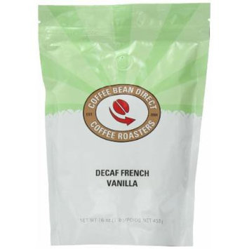 Coffee Bean Direct Decaf French Vanilla Flavored, Whole Bean Coffee, 16-Ounce Bags (Pack of 3)