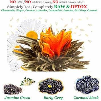 Tea Gift Assorted Detox Flowering Tea 4 Ct Jasmine Green Tea 20g Earl Grey 10...