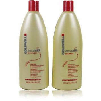 Goldwell Kerasilk Ultra Rich Care Shampoo and Treatment Set for Extremely Dry Hair 16.9oz Each