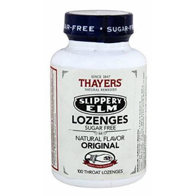 Thayers - Slippery Elm Lozenges Sugar-Free Original - 100 Lozenges
