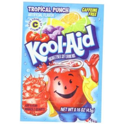 Kool-Aid Tropical Punch Unsweetened Soft Drink Mix, 0.16-Ounce Packets (Pack of 96)