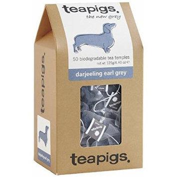 teapigs Darjeeling Earl Grey Tea, 50 Count