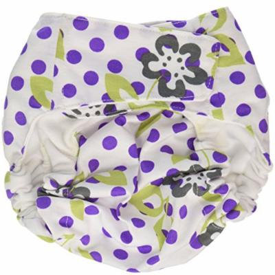 CuteyBaby That's a Wrap Diaper Cover, Purple Lime Floral, Large