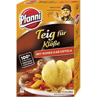 Pfanni Dough for Dumplings with Raw Potatoes