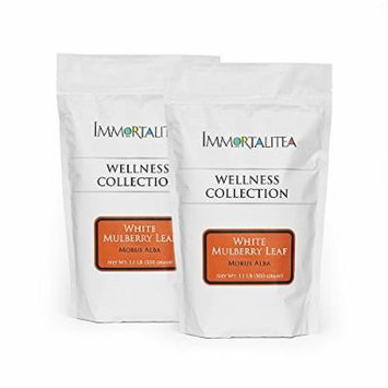 Mulberry Tea - Loose Leaf - Premium Dried White Mulberry Leaves - Shipped in Resealable Bags for Maximum Freshness - Backed by 100% Money Back Guarantee - 1 Kilogram (2.2 lbs)
