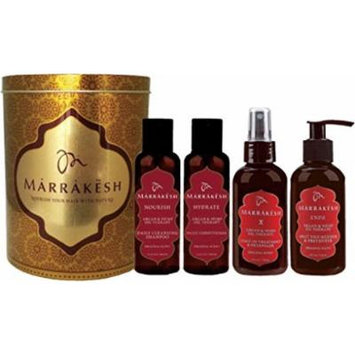 Earthly Body Marrakesh Daily Hair Care Set (Shampoo & Conditioner, Endz and Marrakesh X)