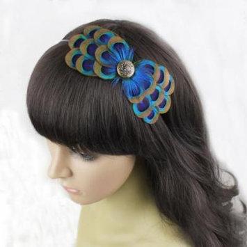 Nero Women's Handmade Peacock Feather Fascinator Headpiece, Fascinator Headband
