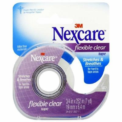 Nexcare First Aid Tape with Dispenser, Flexible Clear, 3/4 in. x 252 in. 1 ea Pack of 12