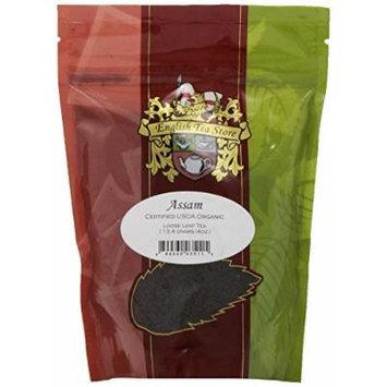 English Tea Store Loose Leaf, Loose Organic Tea Assam Pouches, 4 Ounce
