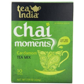 Tea India Chai Moments Tea Mix, Cardamom, 7.9 Ounce