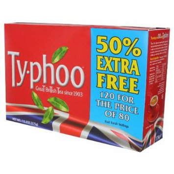Ty-phoo Tea, Round Bags, 120 count Typhoo box (13.2 ounce)