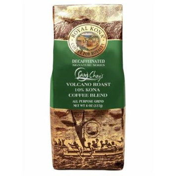 Hawaii Royal Kona Coffee 8 oz. Ground 10% Sam Choy's Volcano Decaf