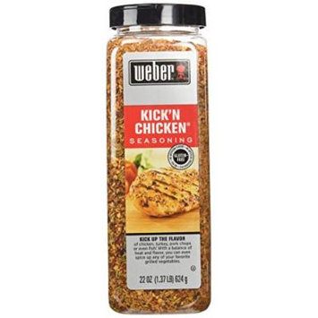 Weber KICK'N CHICKEN All Natural Seasoning - 22 oz - Perfect for Grilling, Made with Sea Salt, no MSG, Gluten Free