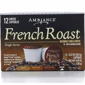 12 K-Cup Keurig Ambiance French Roast Coffee, Dark, 4.44oz (One Box)