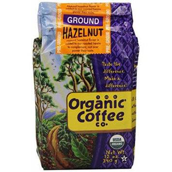 The Organic Coffee Co. Ground, Hazelnut, 12 Ounce (Pack of 3)