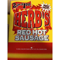 Herb's Red Hot Sausage 50ct 2 for $1