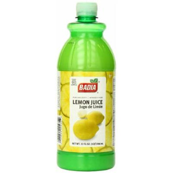 Badia Lemon Juice, 32 Ounce (Pack of 12)