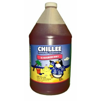 Chillee Snow Cone Syrup, Strawberry, 128 Ounce (pack of 4)