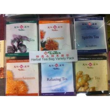 TenRen Assorted Herbal Tea Bag Variety Pack (Peppermint Tea, Chamomile Tea, Spirit Tea, Chrysanthemum Tea, Relaxing Tea, Ginger Tea)(30 tea bags)