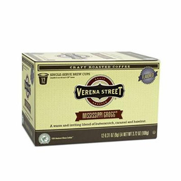 Verena Street Coffee Mississippi Grogg flavored coffee, Single Cup Capsule (36 Brew Cups), Rainforest Alliance Certified Single Serve Coffees, Fresh Craft Roasted Specialty Coffee