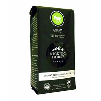 Kicking Horse Coffee, Kick Ass, Ground Coffee, 10 Ounce