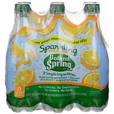 Poland Spring Sparkling Water Orange 6 Pack
