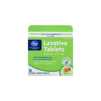 Kroger Laxative Tablets, Bisacodyl USP 5 mg, 25 ct, Compare to active ingredient in Dulcolax