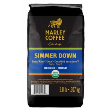 Marley Coffee, Organic Ground Coffee, Simmer Down Decaffeinated, 2 Pound