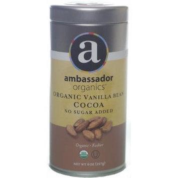 Ambassador Organics Organic Cocoa, Biodynamic Vanilla Bean, 8 Ounce