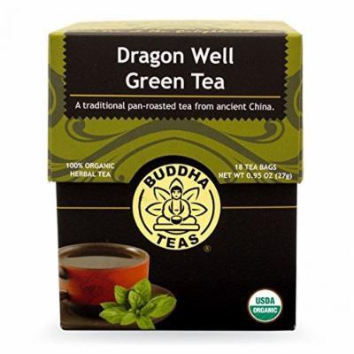Dragon Well Green Tea - Organic Herbs - 18 Bleach Free Tea Bags