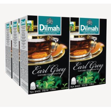 Dilmah Fun Tea, Earl Grey, Single Origin Pure Ceylon, 20 Count String & Tag, Pack of 6
