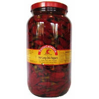 Tutto Calabria Hot Long Chili Peppers Large 102.2 oz. Jar