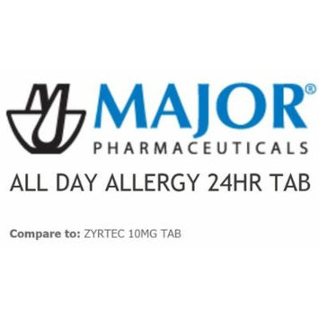 MAJOR PHARMACEUTICALS ALL DAY ALLERGY 10 MG 30 TABLET (Compare to Zyrtec)