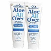 Aloe All Over 8 Oz BEST Skin Lotion For Moisturizing Severe Dry Flaky Itchy Skin Legs Arms Hands Glowing Baby-Soft Skin Alternative To Dove Cetaphil Vaseline Olay Aveeno Eucerin Lubriderm Jergens