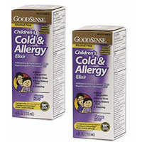 GoodSense Childrens Cold & Allergy Elixir, 2-Pack, Grape, Compare to Childrens Dimetapp Elixir Cold & Allergy