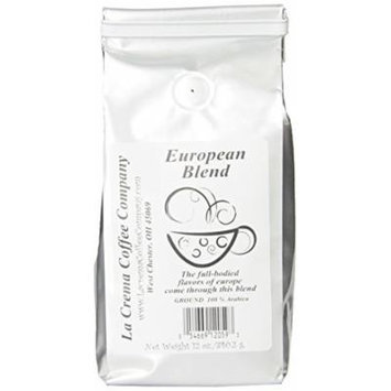 La Crema Coffee European Blend, 12-Ounce Packages (Pack of 2)